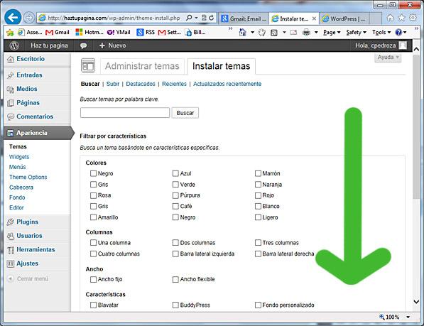 como usar wordpress - buscar temas