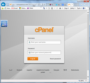 como instalar wordpress - cpanel login