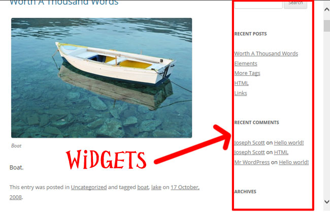 widgets en wordpress - intro