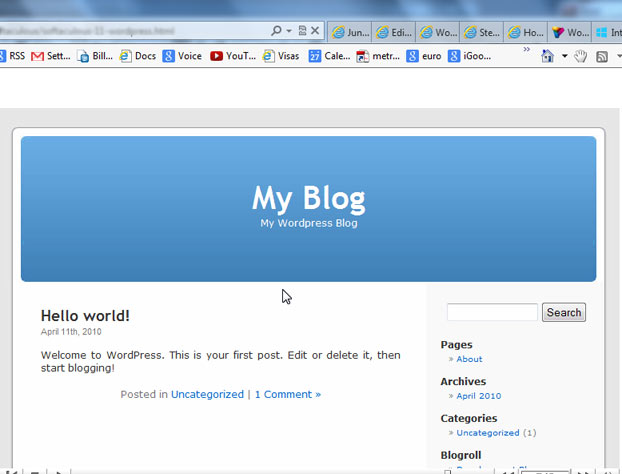 instalar wordpress - wordPress final
