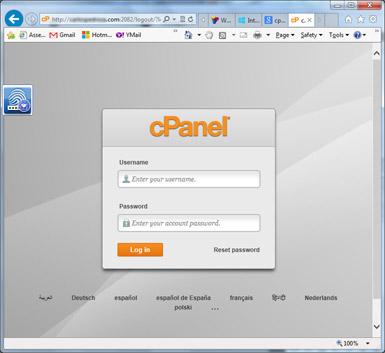 como instalar wordpress - cpanel login
