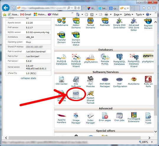 como instalar wordpress - softaculous
