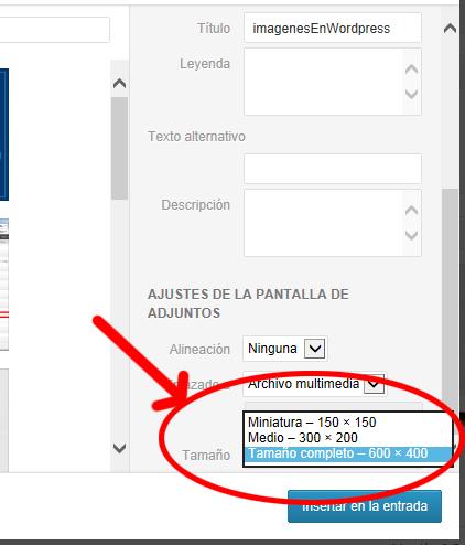 Wordpress Tutorial - como subir imagenes en - tamanos