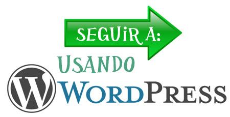 usando WordPress Seguir