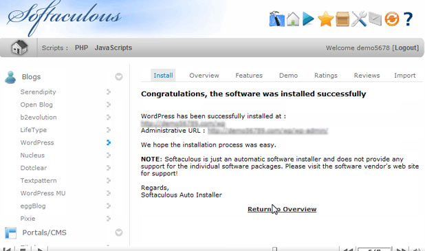 como instalar wordpress - wordPress installed