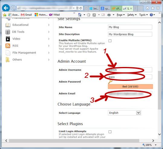 como instalar wordpress - wordPress install B