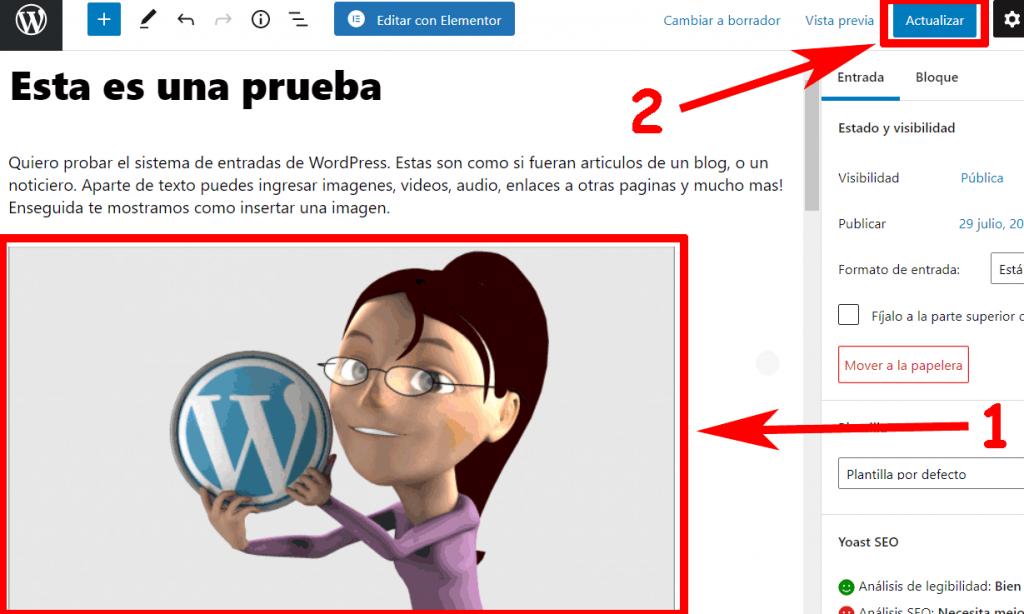Subir Imagen a WordPress