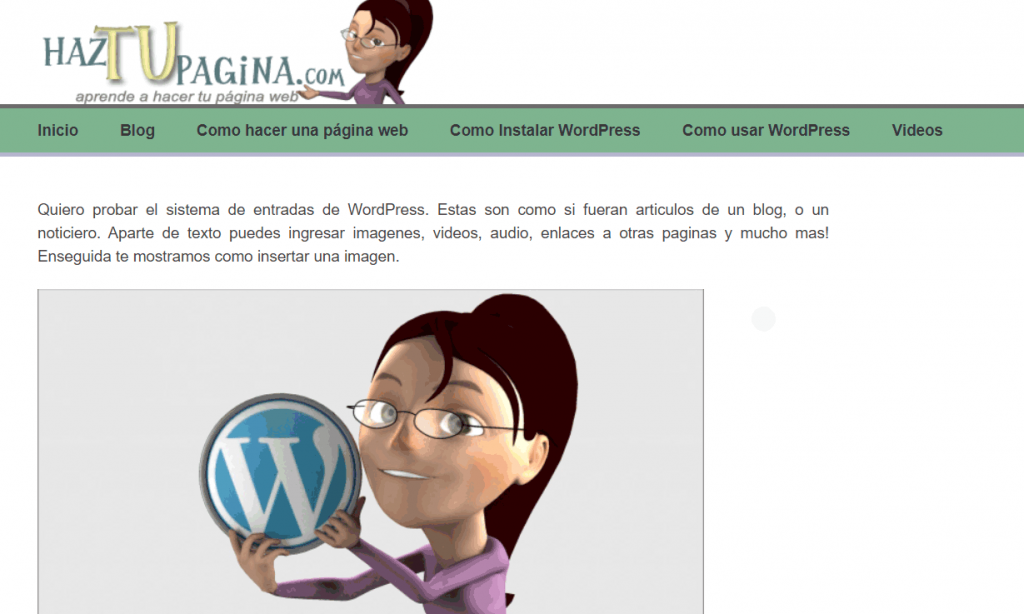 Imagenes en WordPress